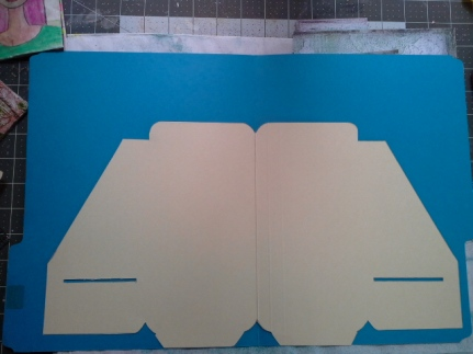 Kraft folder template